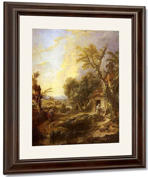Landscape With A Hermit By Francois Boucher