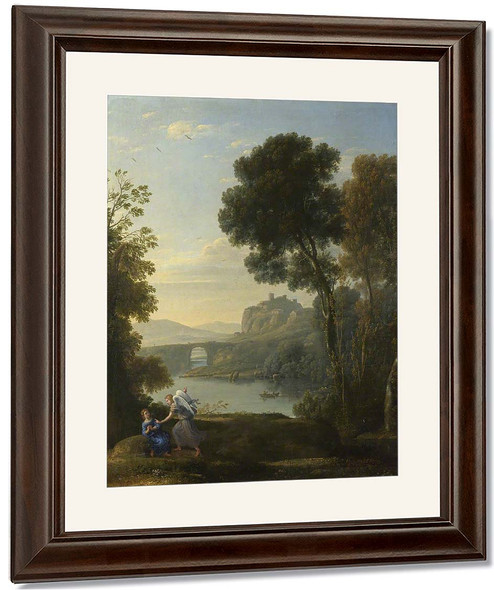 Landscape With Hagar And The Angel By Claude Lorrain By Claude Lorrain