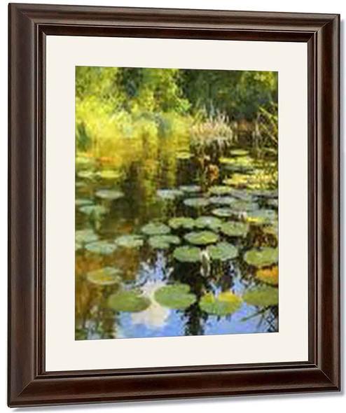 Lily Pond By Frank W. Benson By Frank W. Benson