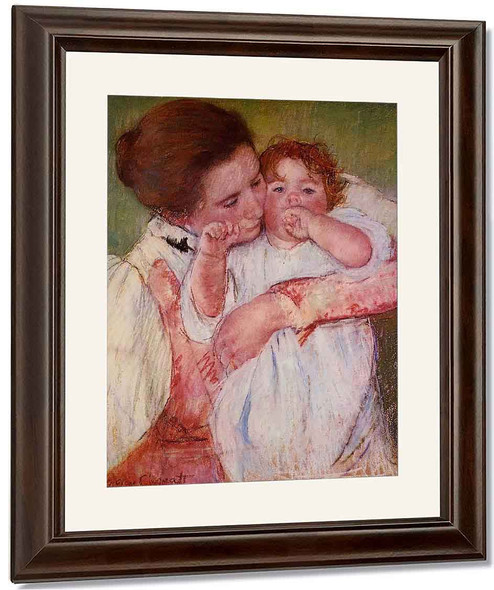 Little Ann Sucking Her Finger, Embraced By Her Mother By Mary Cassatt By Mary Cassatt