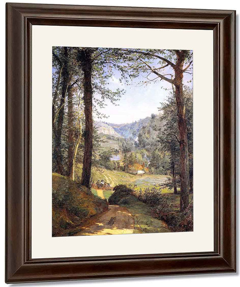 Luccombe Chine, Isle Of Wight By Jasper Francis Cropsey By Jasper Francis Cropsey