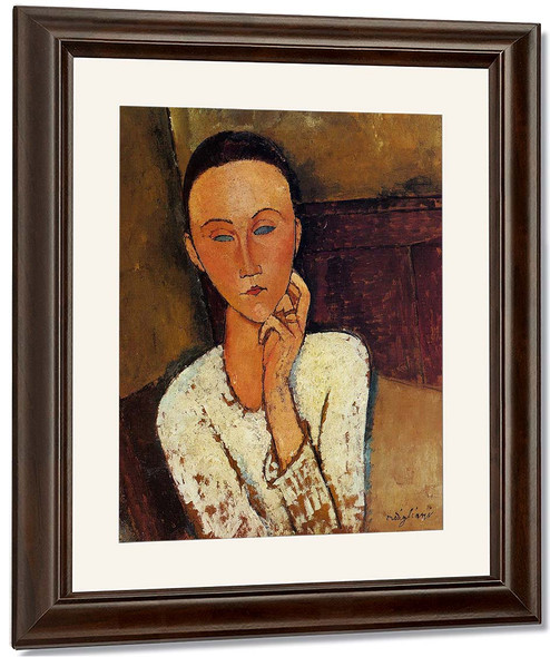 Lunia Czechowska, Left Hand On Her Cheek By Amedeo Modigliani By Amedeo Modigliani