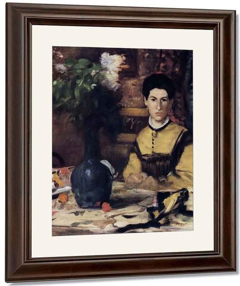 Madame De Rutte By Edgar Degas By Edgar Degas