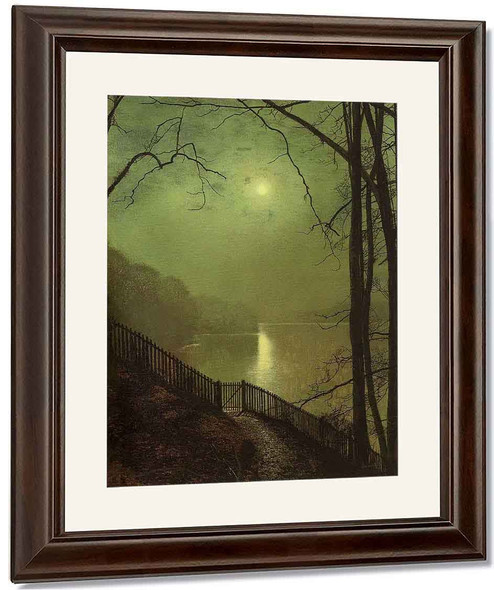 Figure In The Moonlight By John Atkinson Grimshaw Reproduction