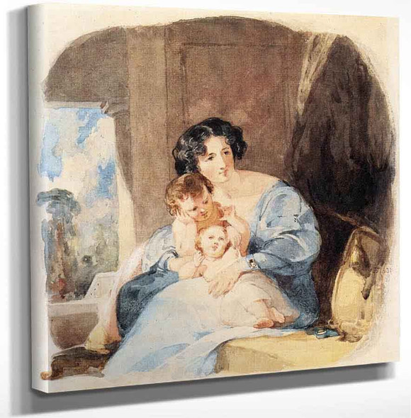 Mother With Her Children By Thomas Sully Art Reproduction