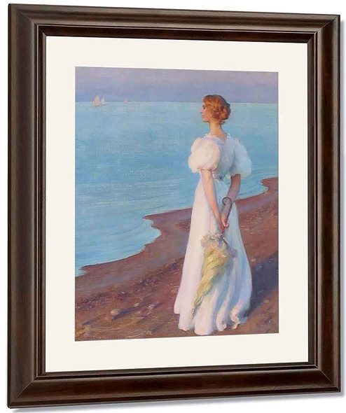 On The Shores Of Lake Erie By Charles Courtney Curran By Charles Courtney Curran