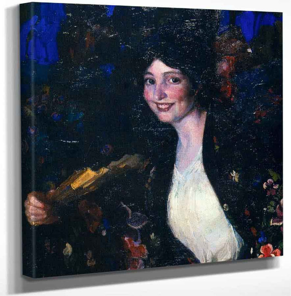 Mujer Con Abanico By Jose Mongrell Torrent Art Reproduction