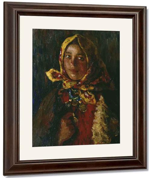 Peasant Girl1 By Abram Efimovich Arkhipov