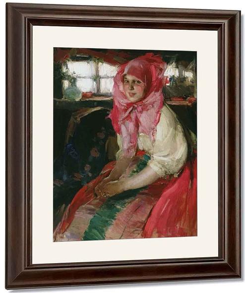 Peasant Girl By Abram Efimovich Arkhipov