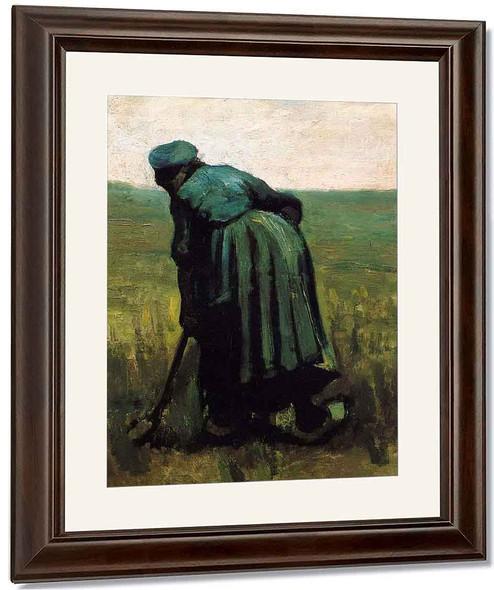 Peasant Woman Digging By Jose Maria Velasco