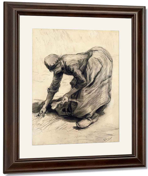 Peasant Woman Gleaning By Jose Maria Velasco