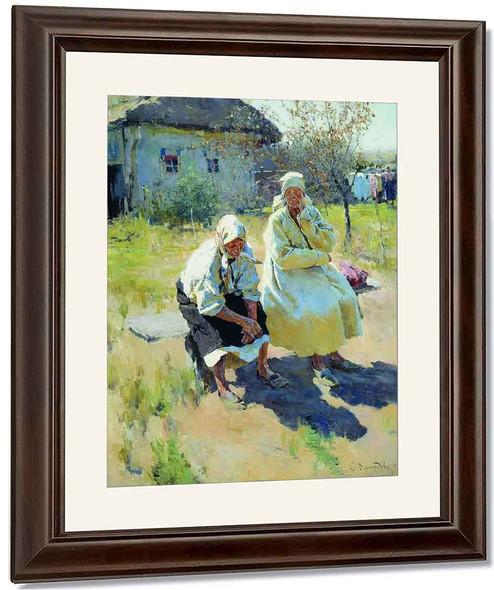 Peasant Women 1 By Sergei Arsenevich Vinogradov Russian 1869 1938