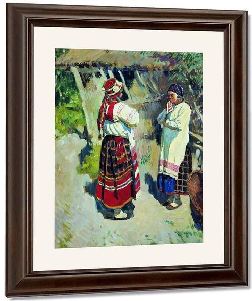 Peasant Women From Tula By Sergei Arsenevich Vinogradov Russian 1869 1938