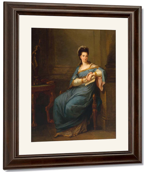 Portrait Of A Lady By Angelica Kauffmann By Angelica Kauffmann