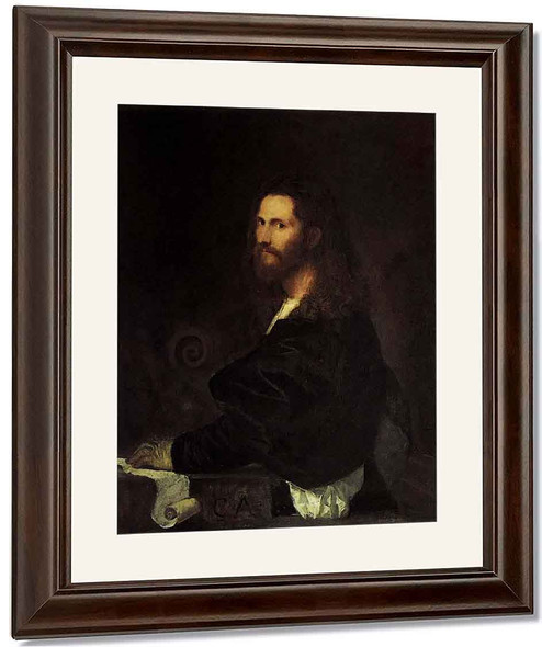 Portrait Of A Musician By Titian