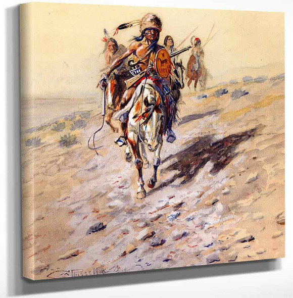 On The Trail By Charles Marion Russell Art Reproduction