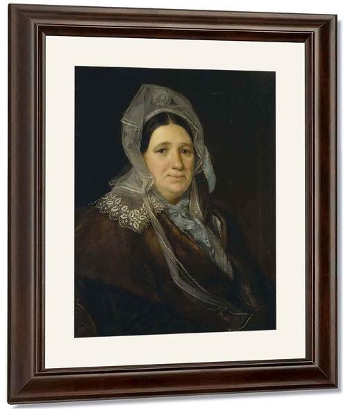 Portrait Of A Woman By Vasily Tropinin
