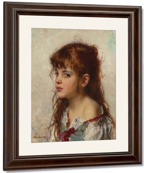 Portrait Of A Young Girl10 By Alexei Harlamoff