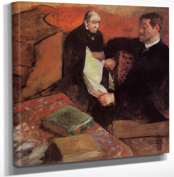 Pagan And Degas Father By Edgar Degas Art Reproduction