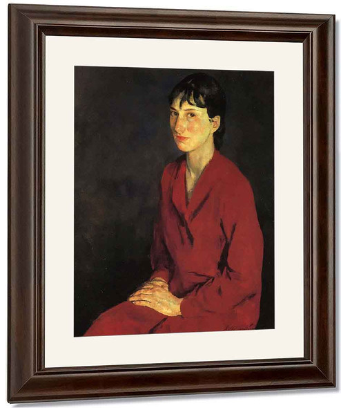 Portrait Of Annette By Charles W. Hawthorne