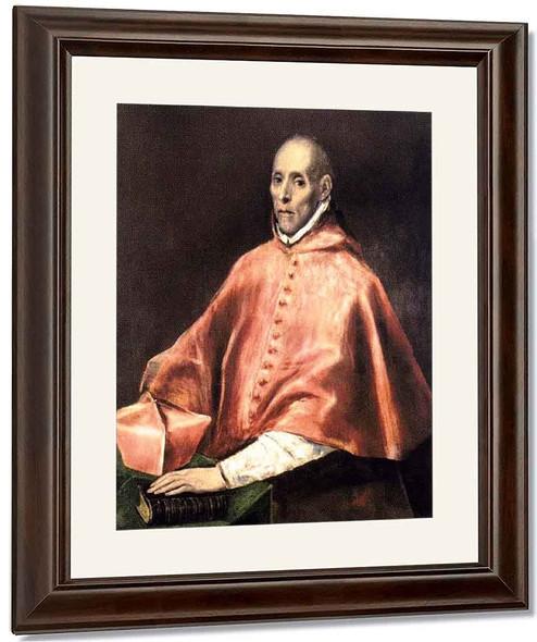 Portrait Of Cardinal Tavera By El Greco By El Greco