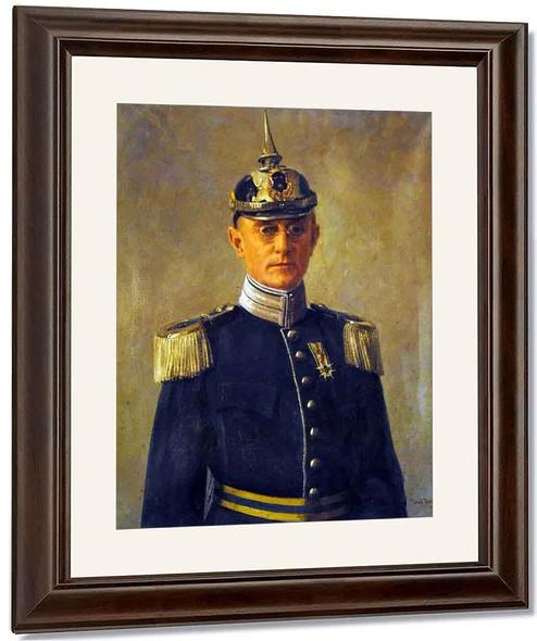 Portrait Of Colonel Axel Engdahl By Johan Krouthen By Johan Krouthen