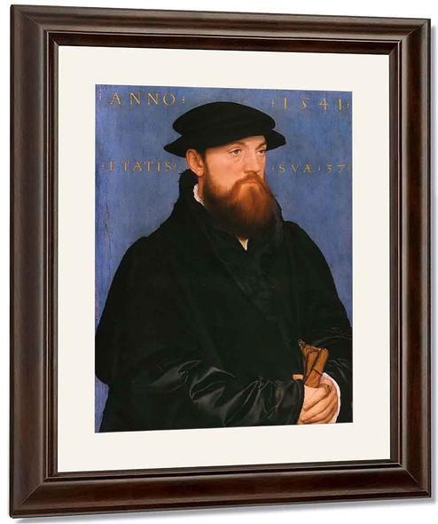Portrait Of De Vos Van Steenwijk By Hans Holbein The Younger By Hans Holbein The Younger