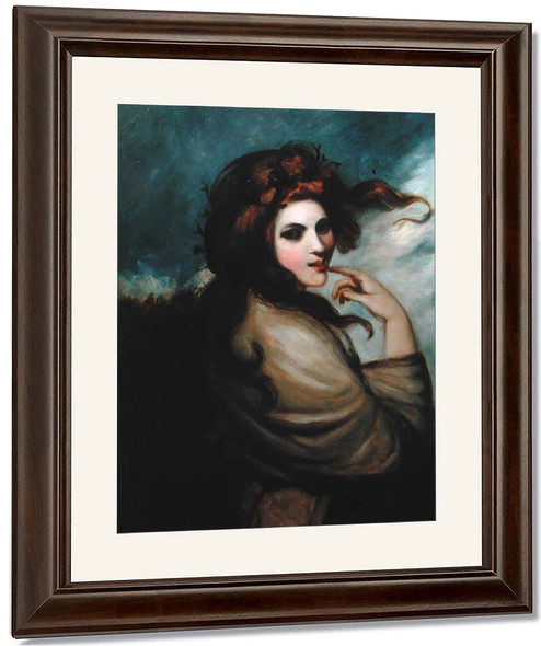 Portrait Of Emma Hamilton 2 By George Romney By George Romney