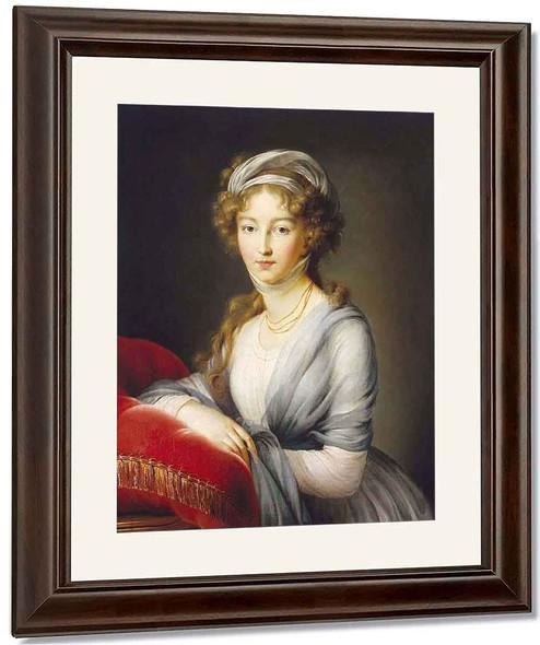 Portrait Of Empress Elisabeth Alexeievna By Elisabeth Vigee Lebrun