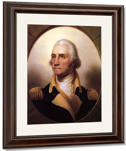 Portrait Of George Washington1 By Rembrandt Peale