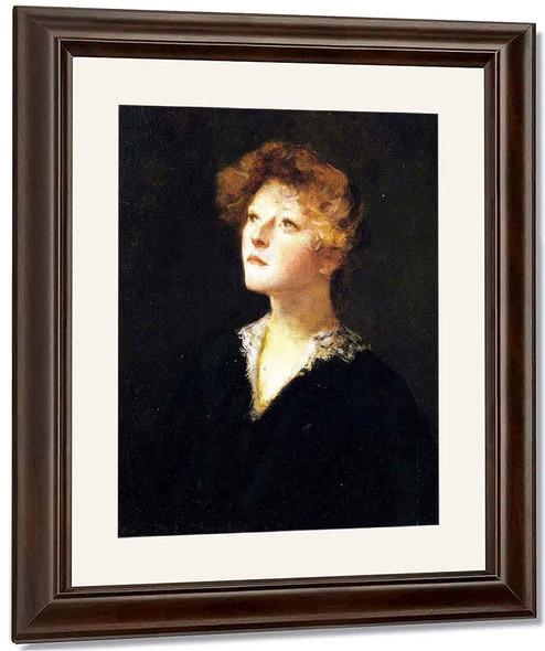 Portrait Of Helen 1 By William Merritt Chase By William Merritt Chase