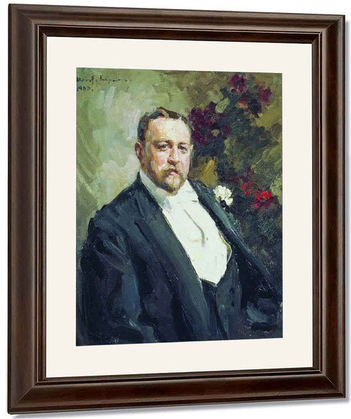 Portrait Of Ivan Morozov By Constantin Alexeevich Korovin By Constantin Alexeevich Korovin