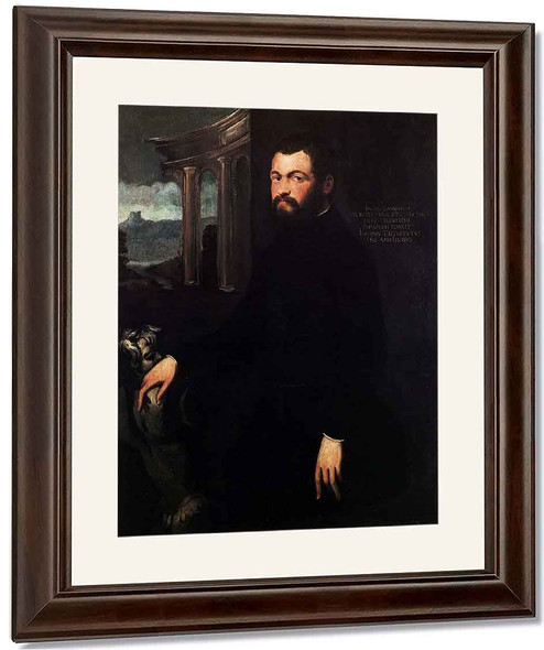 Portrait Of Jacopo Sansovino By Jacopo Tintoretto