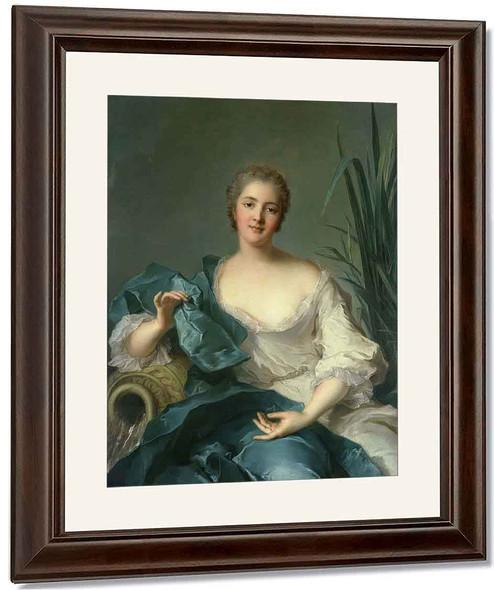 Portrait Of Madame Marie Henriette Berthelot De Pleneuf By Jean Marc Nattier