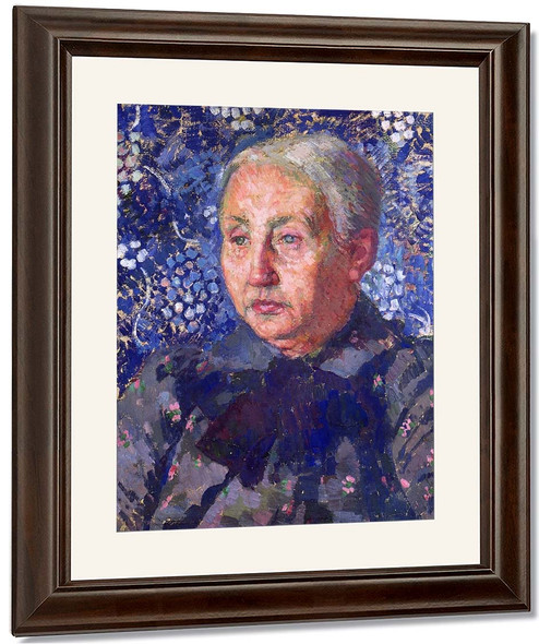 Portrait Of Madame Monnon, The Artist's Mother In Law By Theo Van Rysselberghe