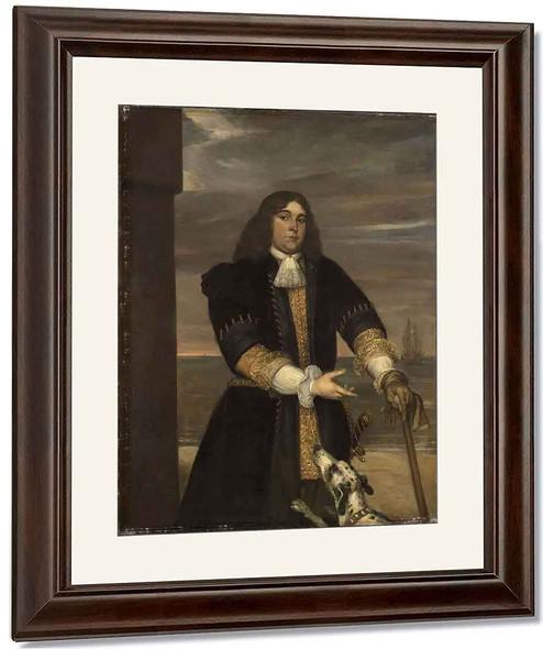 Portrait Of Sea Captain Jan Van Gelder, Stepson Of Michiel Adriaensz De Ruyter By Jan Lievens The Elder