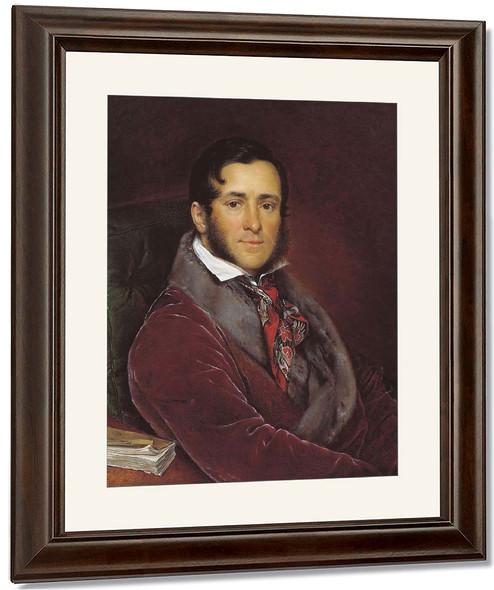 Portrait Of Semen Mosolov By Vasily Tropinin