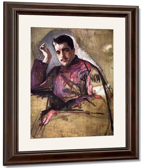 Portrait Of Sergei Diaghilev By Valentin Serov