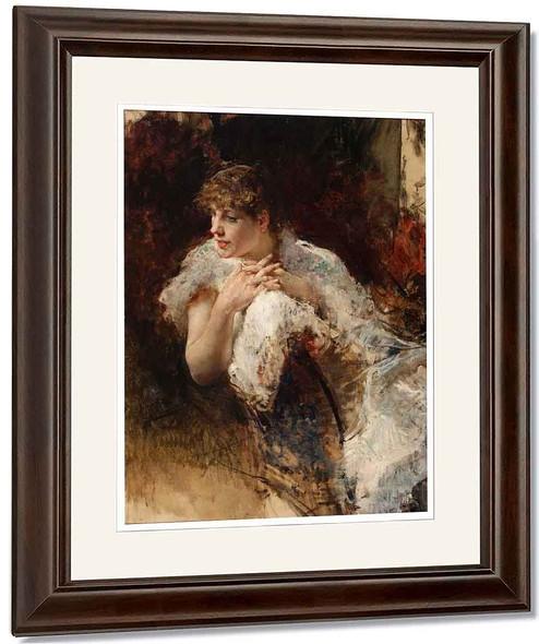 Portrait Of Signora Napoletana By Giuseppe De Nittis By Giuseppe De Nittis