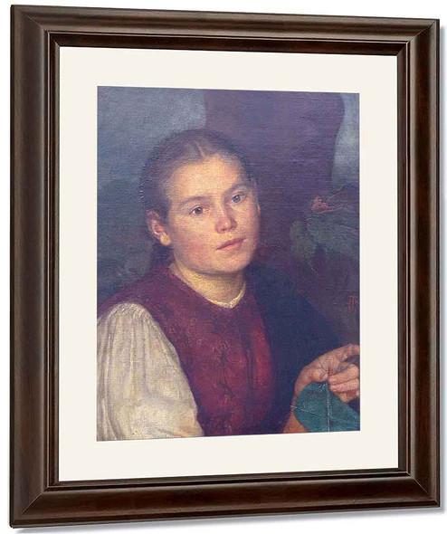 Portrait Of Sister Agatha By Hans Thoma