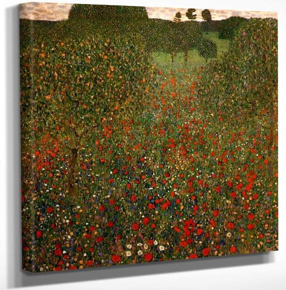 Poppy Field By Gustav Klimt Art Reproduction