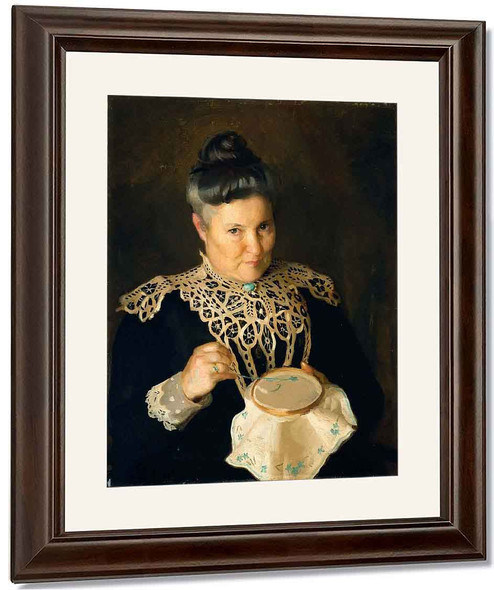 Portrait Of The Artist's Mother By William Macgregor Paxton By William Macgregor Paxton