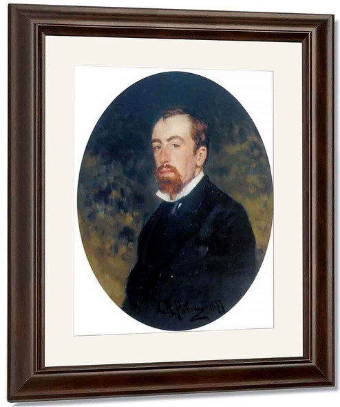 Portrait Of The Artist Vasily Polenov. By Ilia Efimovich Repin By Ilia Efimovich Repin