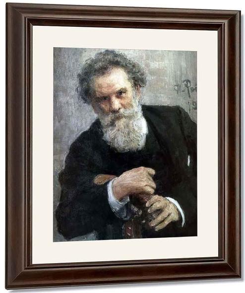 Portrait Of The Author Vladimir Korolemko. By Ilia Efimovich Repin By Ilia Efimovich Repin