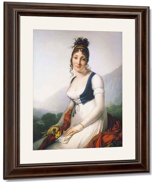 Portrait Of The Comtesse De Bonneval By Anne Louis Girodet De Roussy Trioson By Anne Louis Girodet De Roussy Trioson