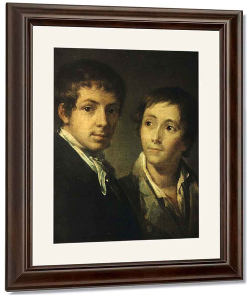 Portrait Of The Morkovs By Vasily Tropinin