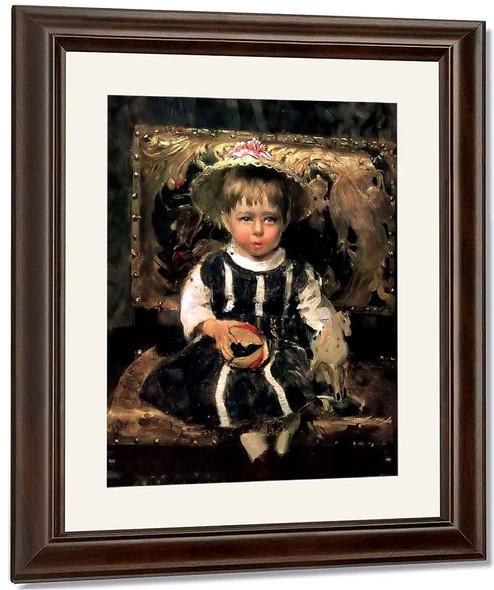 Portrait Of Vera Repina By Ilia Efimovich Repin By Ilia Efimovich Repin