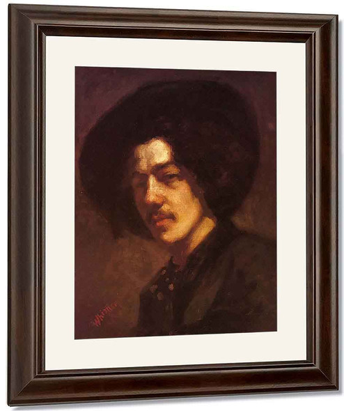 Portrait Of Whistler With Hat By James Abbott Mcneill Whistler American 1834 1903