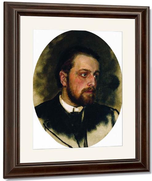 Portrait Of Writer Vladimir Grigorievich Chertkov. By Ilia Efimovich Repin By Ilia Efimovich Repin