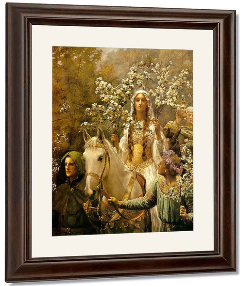 Queen Guinevre's Maying By John Maler Collier By John Maler Collier